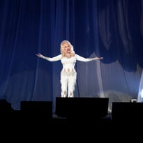 Dolly Parton performs Friday night during her Pure and Simple World Tour at the Denny Sanford Premier Center.