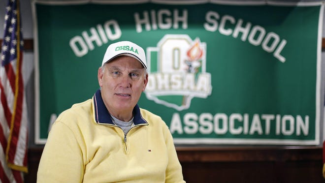 OHSAA Executive Director Jerry Snodgrass poses for a photo in the OHSAA office building in Columbus, Ohio on June 11, 2020.
