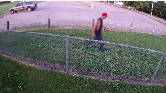 This man is suspected of stealing a vehicle and setting it on fire. Any information can be reported to Crime Stoppers at 367-7007.