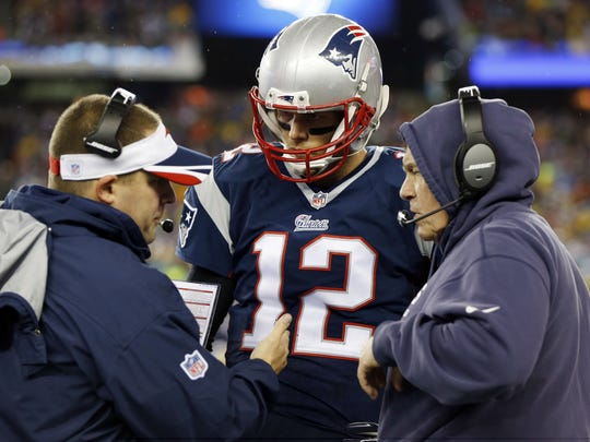 A last-minute meeting between Josh McDaniels (left), Bill Belichick and Robert Kraft kept the Patriots' offensive coordinator in New England, and left the Colts stunned.
