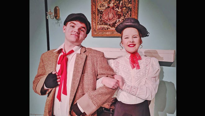 Kylan Ritchie and Brady Klosterman star in Mary Poppins Jr. which runs March 9, 10, 16 and 17 at the Renaissance Center in Dickson.
