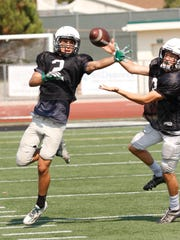 Troy Helo (left) is expected to have a big senior season after leading Thousand Oaks in receiving last year.