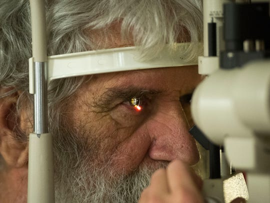 Gene Reno of Maryville has his eyes examined at Remote