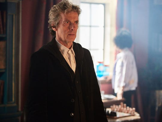 Peter Capaldi as 'The Doctor' in the Season 10 premiere