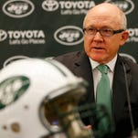 Woody Johnson, owner of the Jets, addresses the media during a news conference Jan. 21.