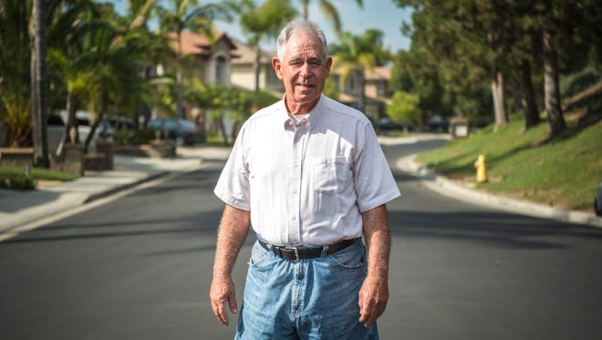 Tom Chudzinski, 62, spent 34 days in jail in Albuquerque because he couldn't get $50 to post bond following an arrest on a drunken driving charge. His case was dismissed for lack of evidence, but he still lost his motorhome, a lifetime of belongings and clothes  Tom Chudzinski can't afford bond in the New Mexico state judicial system. The issue goes to voters in the state in November.  Chudzinski photographed at the home he is staying at in Mission Viejo, CA Wednesday October 26th, 2016.