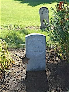 This gravestone was installed by William Kolbow's grave this summer, 132 years after his death, Aug. 7, 1885.