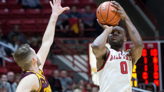 Ball State beat Central Michigan University 98-83 Tuesday night in Worthen Arena.