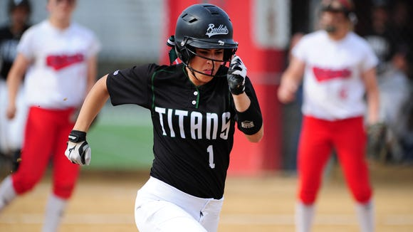 West Salem's Tayler Gunesch (1) is the Greater Valley Conference softball player of the year..