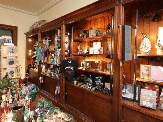 The interior of the gift shop in the welcome center