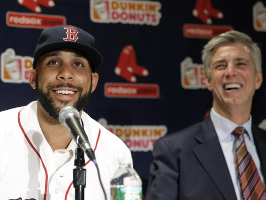 Dave Dombrowski with David Price