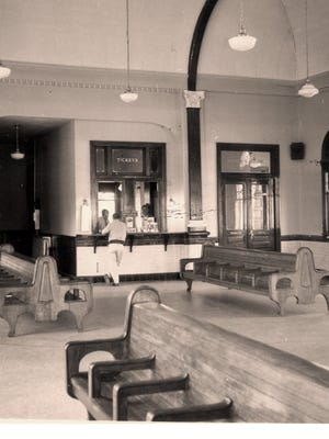The interior of the Union Station Depot is shown in this 1957 photo by newsman Dick Greene.