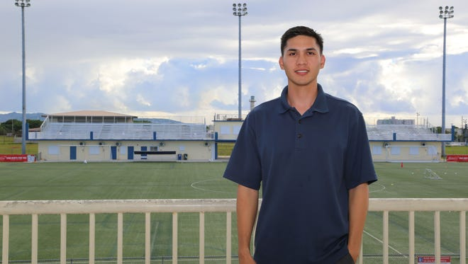 Micah Paulino at the Guam Football Association National Training Center. Paulino takes on the post vacated by Tino San Gil, who recently won GFA's presidential election in an Extraordinary Congress held earlier this month. San Gil tapped and presented Paulino as his top nomination for the position at a GFA Executive Committee meeting July 25, 2017.