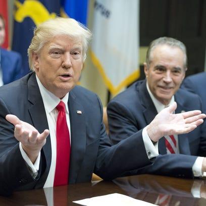 President Donald Trump participates in a congressional