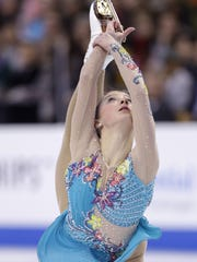 Hannah Miller competes in the women's free skate at