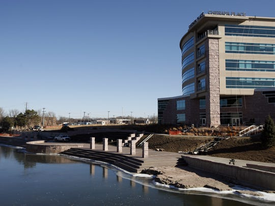 The River Greenway in front of Cherapa Place is almost complete. Work there has spurred more building downtown, developer Jeff Scherschligt says. Devin Wagner / Argus Leader The River Greenway in front of Cherapa Place is nearing completion in Sioux Falls, S.D., Friday, Dec. 2, 2011.