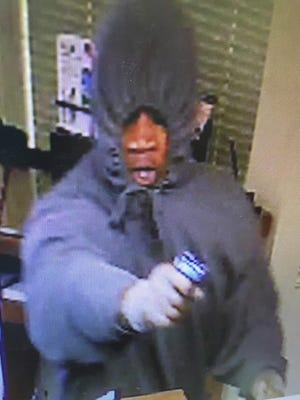 Surveillance image from Green Township bank robbery.