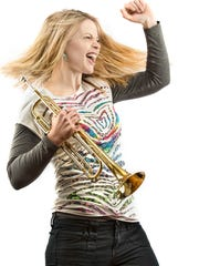 Bria Skonberg performs with her quintet Friday at Middlebury College.