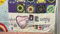 Quilt panels memorializing the lives of people who