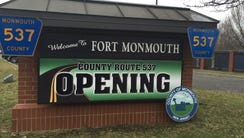 Monmouth County officially opened Route 537 into Fort