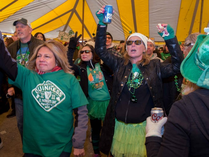 Bars along the annual St. Paddy's Day parade route