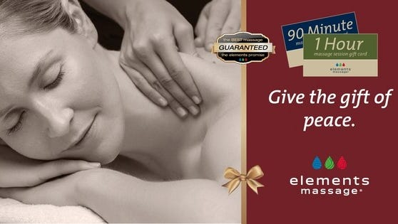 Elements Massage, buy one get one 50% off