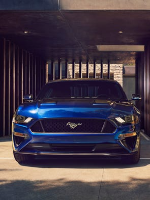 Ford has given Mustang's grille a few tweaks for 2018,