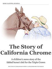 """The Story of California Chrome,"" a children's news story telling of the fabled horse that came close to winning a Triple Crown, is now available as an iBook."