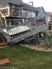 A deck collapsed at a home at Lake Madison after a