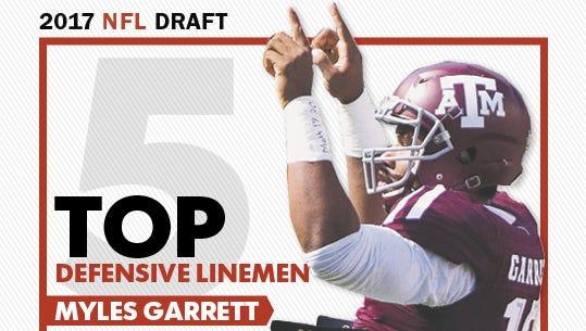 Myles Garrett is the top defensive lineman in the 2017 NFL draft.