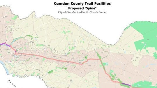 A proposed rail-to-trails path would lead cyclists and pedestrians from Camden to Winslow.
