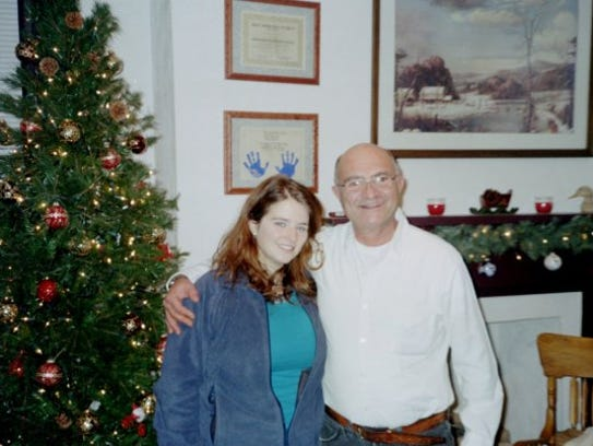This is Carrie McLean and her father, Robin Matthews.