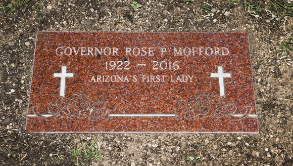 The final resting place of former Gov. Rose Mofford