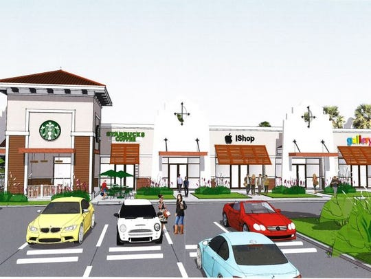 A rendition of Shoppes at Estero Grande, a 8,000 square