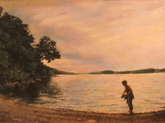"""Phil Sigunick's """"Day on the Hudson"""" is """"a representational depiction of an idyllic summer by the river."""""""