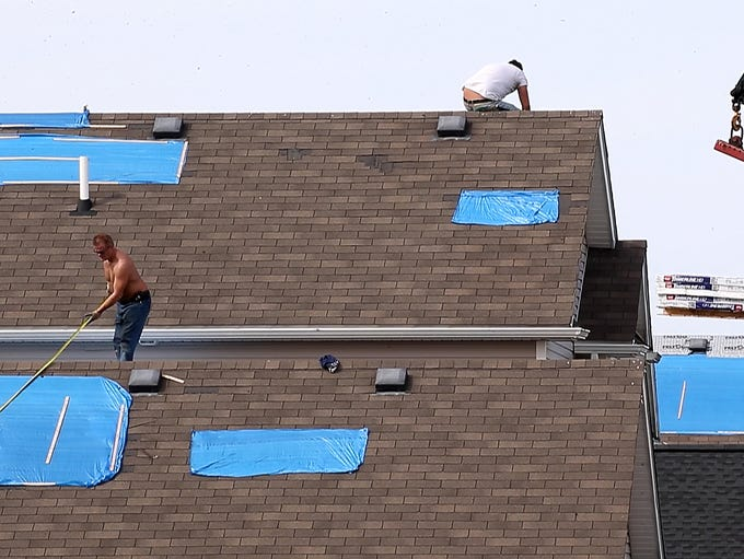 Damage to roofs in the Berkshire Park development built