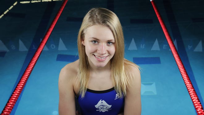 Bay Port's Emma Lasecki is the Green Bay Press-Gazette girls swimming athlete of the year.