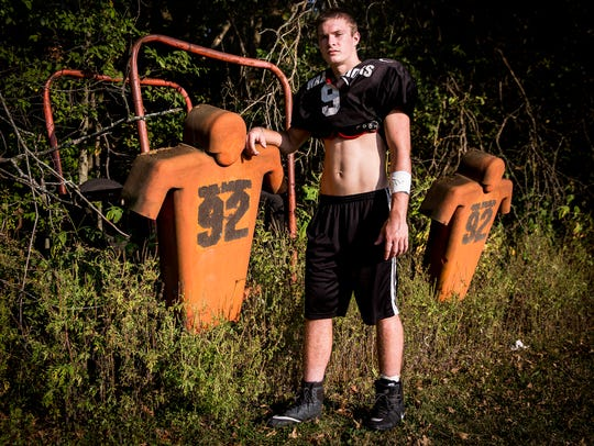 Wes-Del's Kyle Dosch during practice at Wes-Del High