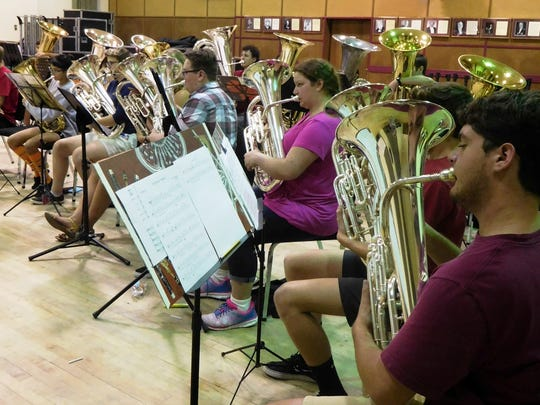 Emerging musicians in the low brass music camp at FSU.