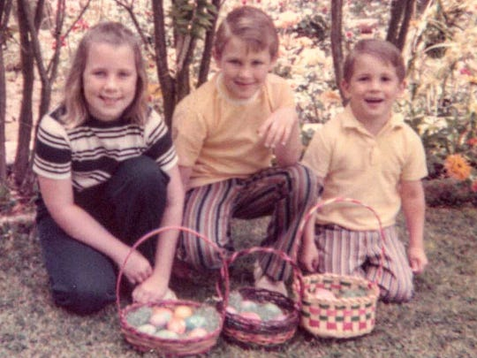 The children of Lyman Smith, Jennifer, Jay and Gary, pose for a photo in Santa Paula in the early 1970s. Their father was murdered in March 1980 by the Golden State Killer. Authorities believe a man arrested Tuesday is responsible for the deaths.