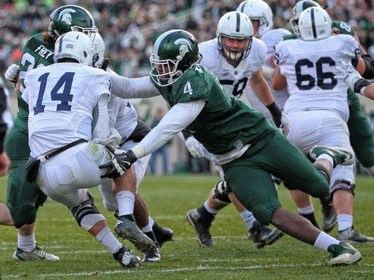 Michigan State Spartans defensive lineman Malik McDowell,