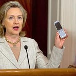 Hillary Clinton explains how to send emails through private accounts on your cell phone