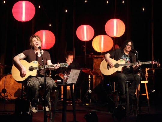 Johnny Rzeznik and Robby Takac of The Goo Goo Dolls perform at the baby grand in Wilmington in 2014.