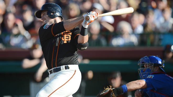 Buster Posey went for less in Tout Wars even though that industry league uses on-base percentage and he was ninth in the majors last season at .379.