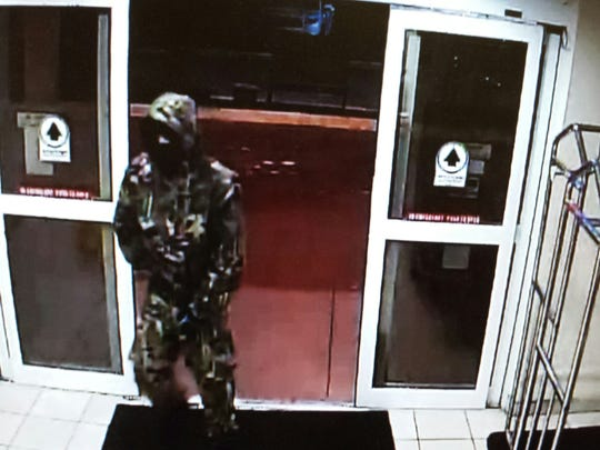 A suspect leaped the counter at the Comfort Inn, 4171 Boatways Road in Fort Myers, to get to the register.