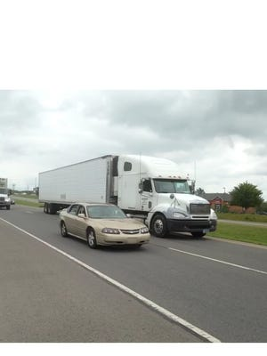 Drivers  travel on two lanes of westbound traffic on Sam Ridley Parkway between Old Nashville Highway and Interstate 24. Smyrna officials will be working with the Tennessee Department of Transportation to add a third lane to this section of the parkway, Town Manager Harry Gill Jr. said.
