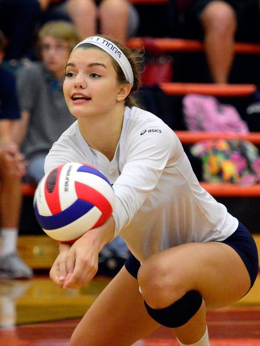 West York vs York Suburban girls' volleyball