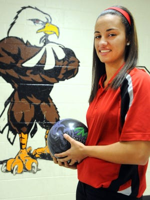 Harding High School senior bowler Shania Byrne is the Fahey Bank Female Athlete of the Month for December.