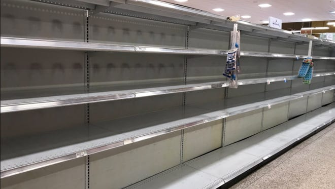 Water aisle at Publix in Naples Plaza across from Coastland Center Mall looking rough on Wednesday, Sept. 6, 2017.