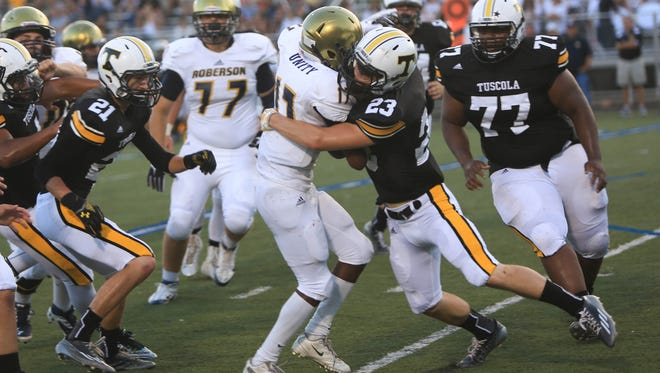 Cody Wood was one of the top tacklers for the Tuscola football team this season.